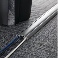 UT Wire Cable Management Floor Cord Protector and Concealer Size: Color: Dark Grey Hide Cables, Hide Wires, Hiding Cords, Hide Tv, Do It Yourself Organization, Cord Organization, Hide Electrical Cords, Electrical Outlets, Tv Cords
