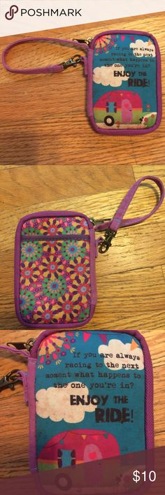 """Natural Life""""enjoy the ride""""camper wristlet wallet Please feel free to ask any questions or make an offer, and as always THANK YOU for shopping my posh closet! Xoxo -Tish NATURAL LIFE Bags Clutches & Wristlets"""