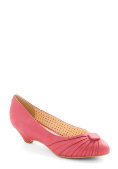 Burst of Fresh Flair Heel in Pink   Mod Retro Vintage Heels   ModCloth.com