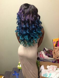 Multi-colored ombre hairstyle