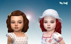 Lara Hair for Toddlers at My Stuff • Sims 4 Updates