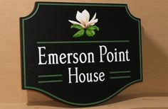 Emerson Point House Sign