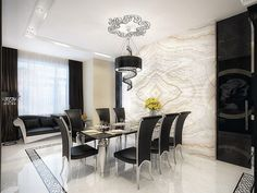 Furniture:Splendid Modern Dining Room For Perfect Kitchen's Interior Outstanding Exclusive Modern Dining Room Design Ideas Image Current Finest Gallery Which May Create Your House Appear Gorgeous And Comfortable