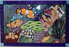 Colorful Ocean Reef Stained Glass Mosaic of by GlassArtsStudio, $350.00