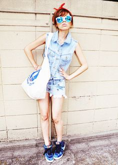 i think i like you Japanese Models, Overall Shorts, Like You, Amy, Overalls, Clothes, Vintage, Women, Style