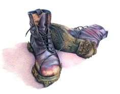 Items similar to Muddy Garden Boots Greetings Cards from original color pencil drawing - blank for notes on Etsy Still Life Drawing, Still Life Oil Painting, Still Life Art, Sketchbook Challenge, Art Challenge, Boots Gifts, Garden Boots, Observational Drawing, Food Painting