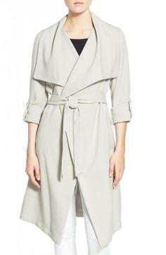 draped spring coat