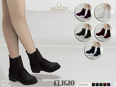 Madlen Eligio Boots New ankle boots for your sim! Come in 6 colours (patent leather texture) . Joints are perfectly assigned. All LODs are replaced with new ones. You cannot change the mesh, but feel...