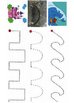 Activités imprimables Coups de base graphomotrices. http://www.activitesprescolaire.pequescuela.com/activites-prescolaire-imprimer-lignes14.html