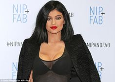 Revealing: The youngest daughter of Bruce and Kris Jenner  wore a sheer top that exposed h...