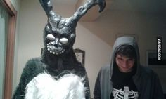 They dressed as Frank and Donnie Darko - 9GAG