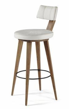 ευρω 180 /οτι χρωμα θες-Πατρα - GYL stool 199/39 Σκαμπό μπαρ με πλάτη και ξύλινα πόδια (διατίθεται σε ποικιλία χρωμάτων και υλικών) - justshop.gr