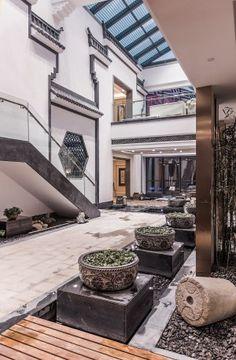 trang trí ĐÔng Dương hiện đại cho khuôn viên và staff house