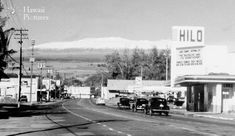 Downtown Hilo Snow-Capped Mauna Kea - Photos of Hawaii Pictures