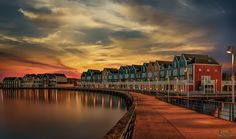 """Turn Left - The """"rainbow houses"""" of Houten from another viewpoint. A nice example of Dutch architecture............"""