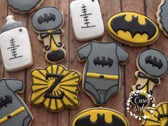 Great Batman Baby Shower Set #casebakes #customcookies #decoratedcookies #batman # Babyshower #clearlaketx