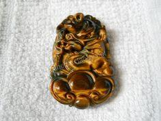 Mặt Rồng như ý đá mắt hổ - Mặt dây chuyền phong thuỷ Thegioidaquy.net