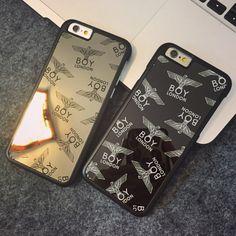 Cool Boy Spiegel elektroplattieren hard case mit Adler Muster für Iphone5/5s/6/6s/6plus