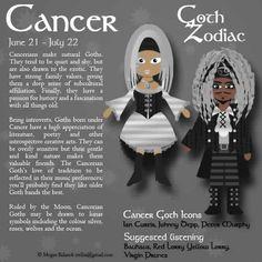 Goth Zodiac: Cancer <3