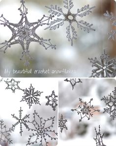 Maryandpatch, crochet snowflakes