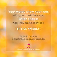Words of Wisdom from 8 Simple Tools for Raising Great Kids by Todd Cartmell