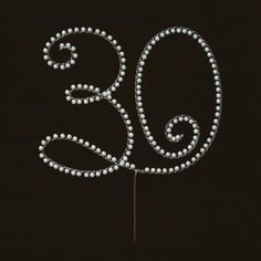 Pearl 30 Birthday or 30th Anniversary Cake Topper by myfrivolities on Etsy, $30.00 (color/size can be customized)