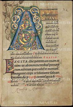 [Missale] Document form other Range 285 x 195 cmI 281 (recte I ff . Medieval Books, Medieval Manuscript, Medieval Art, Renaissance Art, Initial Letters, Letter Art, Wood Letters, Illuminated Letters, Illuminated Manuscript