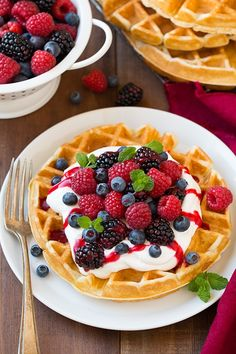 My go-to waffle recipe! These Belgian waffles are light, tender and fluffy on the inside with just the right amount of crisp on the outside. Top with your favorite toppings for an extra special breakfast!