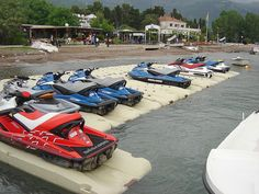 Floating Jet Ski platforms
