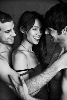 M and j threesome fun.