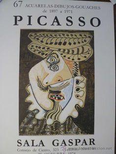 CARTEL DE PABLO PICASSO EN TODOCOLECCION: ACUARELAS SALA GASPAR