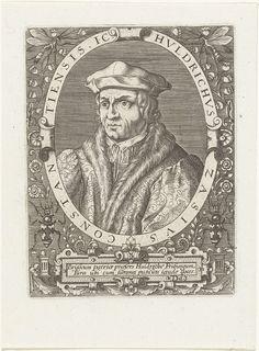 Portret van Ulrich Zasius, Theodor de Bry, Johann Theodor de Bry, c. 1597 - c. 1599