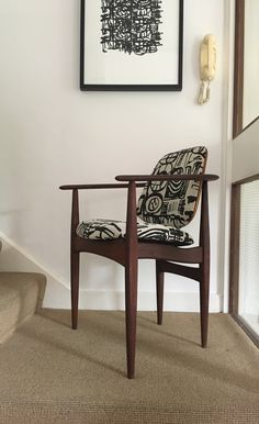 This chair dates from the mid and was made by the British company Meredew.It has been professionally upholstered in handprinted upholstery grade cotton linen union. Screenprinting, Cotton Linen, Upholstery, Mid Century, Chair, Furniture, Home Decor, Art, Kunst