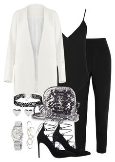 """""""Untitled #2320"""" by theeuropeancloset ❤ liked on Polyvore featuring Dolce&Gabbana, Boohoo, Non, Yves Saint Laurent, Emily Amey Jewelry and Gucci"""