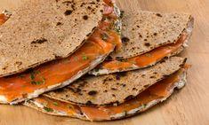 Piadina integrale con salmone