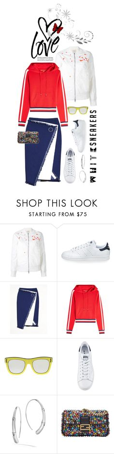 """""""So Fresh: White Sneakers"""" by shortyluv718 ❤ liked on Polyvore featuring Maharishi, adidas, Jamie Wei Huang, Hilfiger Collection, Givenchy, John Hardy, Fendi and whitesneakers"""