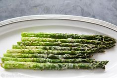 Baked Asparagus with Parmesan on Simply Recipes