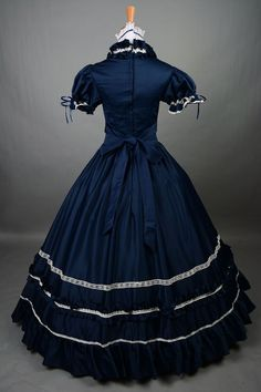 belle blue dress costume halloween costumes for women adult princess ball victorian gown Southern Gothic lolita dress custom