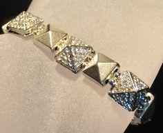 Rocker Elegance  Crystal Stud Bracelet in Gold or by SheriSTRanger, $44.00 #strangerhthingsarehappening