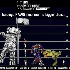2013 MTV Video Music Awards Unveiled 60-Foot Moonman Statue by KAWS