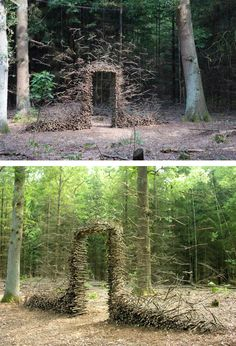Artist Spent A Year In The Woods Creating Mysterious Sculptures - Artist spends year woods creating beautiful sculptures
