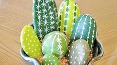 I Couldn't Believe These Painted Cactus Rocks Weren't Real!   DIY Joy Projects and Crafts Ideas