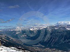 Mountain In Snow Free Stock Image