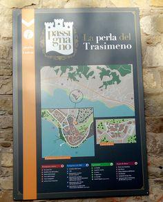 cartina - map Passignano Trasimeno Umbria, Italia