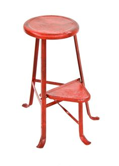 Vintage Industrial Step Ladder Stool Mid Century