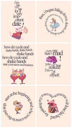 Quotes alice in wonderland cheshire cat mad hatter Alice And Wonderland Quotes, Alice In Wonderland Tea Party, Adventures In Wonderland, Alice In Wonderland Printables, Alice In Wonderland Artwork, Alice In Wonderland Characters, Disney Love, Disney Art, Disney Pixar