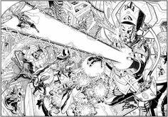 Galactus and the Marvel Heroes | Arthur Adams