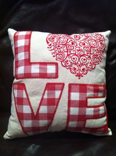 Love cushion by BanjoLily