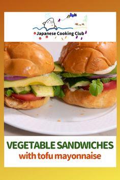 Vegetable sandwiches with tofu mayonnaise #japanesefood #japanesestyle #sandwich #tofu  #plantbased #healthy Asian Recipes, Crockpot Recipes, Soup Recipes, Chicken Recipes, Ethnic Recipes, Lunch Recipes, Breakfast Recipes, Vegetarian Recipes, Healthy Recipes
