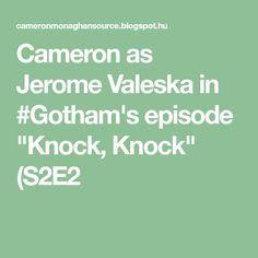 """Cameron as Jerome Valeska in #Gotham's episode """"Knock, Knock"""" (S2E2"""
